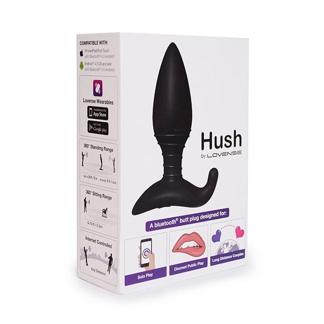 Lovense Hush Wifi İle Akıllı Telefon ve Tablet Kontrolü Sağlayan 44,5 Mm Anal Plug