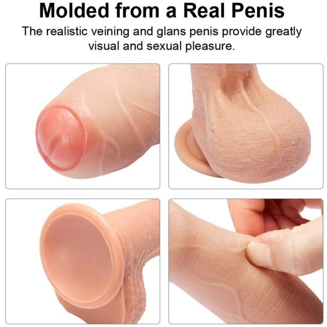 Lovetoy Nature Cock Serisi Özel Çift Katmanlı 18 cm Sünnetsiz Esmer Realistik Penis