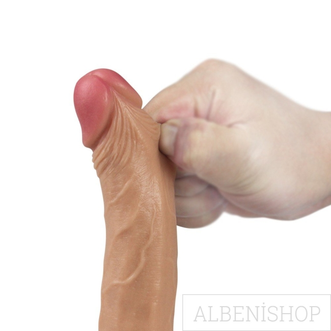 Lovetoy Nature Cock Serisi Özel Çift Dokulu 18 cm Realistik Penis