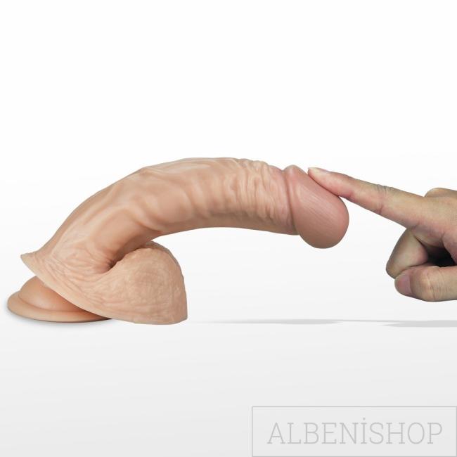 Lovetoy Real Extreme Serisi 21 cm Titreşimli Realistik Penis