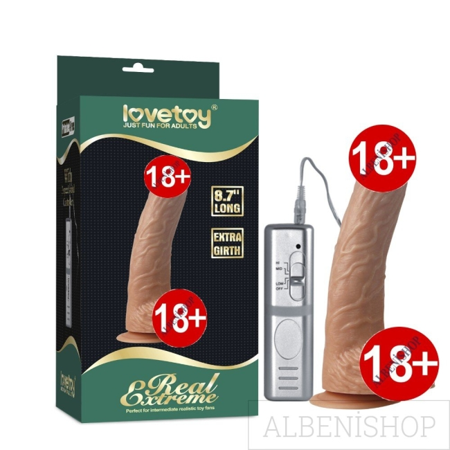 Lovetoy Real Extreme Serisi 24 cm Titreşimli Realistik Penis