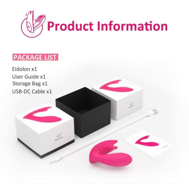Magic Motion Eidolon Akıllı Telefon Kontrol G-Spot ve Klitoris Uyarıcı Giyilebilen Vibratör