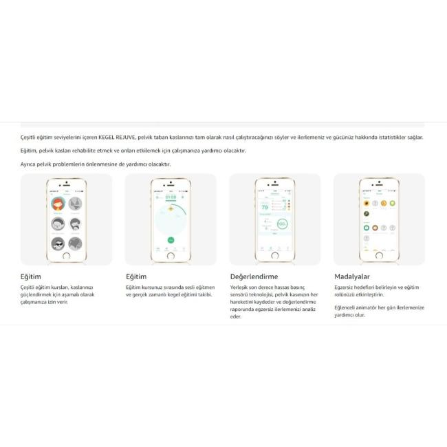 Magic Motion Rejuve Telefon Uyumlu Giyilebilen Kegel Eğitmeni Vibratör