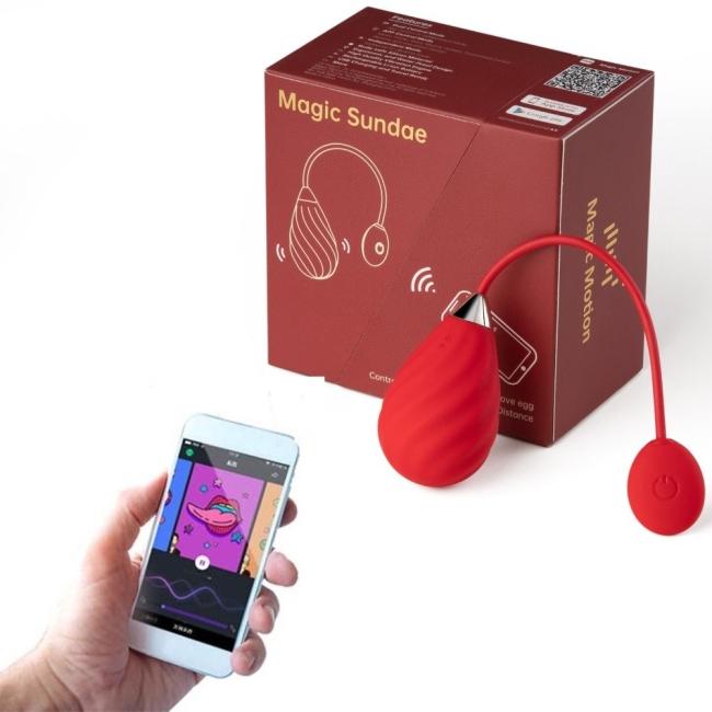 Magic Sundae Telefon Uyumlu Her Yerden Kontrol Edilebilen Titreşimli Vibratör