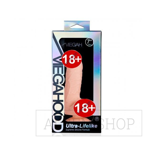 Megahood 18 cm Ultra Gerçekçi Realistik Penis Dildo