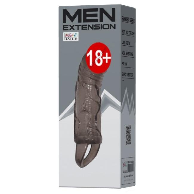 Men Enhancer Sleeve Silikon Yapıda Zenci Penis Kılıfı