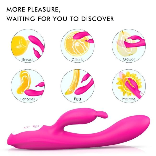 Naughty Klitoris ve G-Spot Uyarıcı Akıllı Isıtma Modlu Şarjlı Rabbit Vibratör