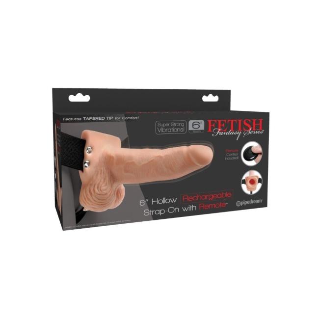 Pipedream Özel Seri 15 Cm  Kumandalı Şarjlı Titreşimli İçi Boş Kemerli Penis