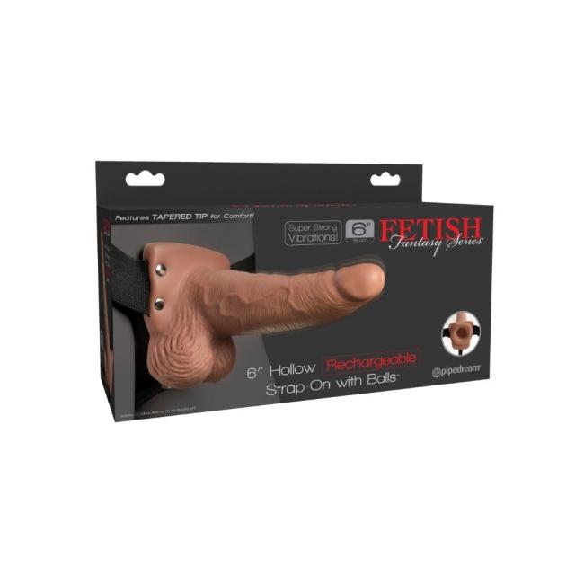 Pipedream Özel Seri 15 Cm Şarjlı Titreşimli İçi Boş Kemerli Penis