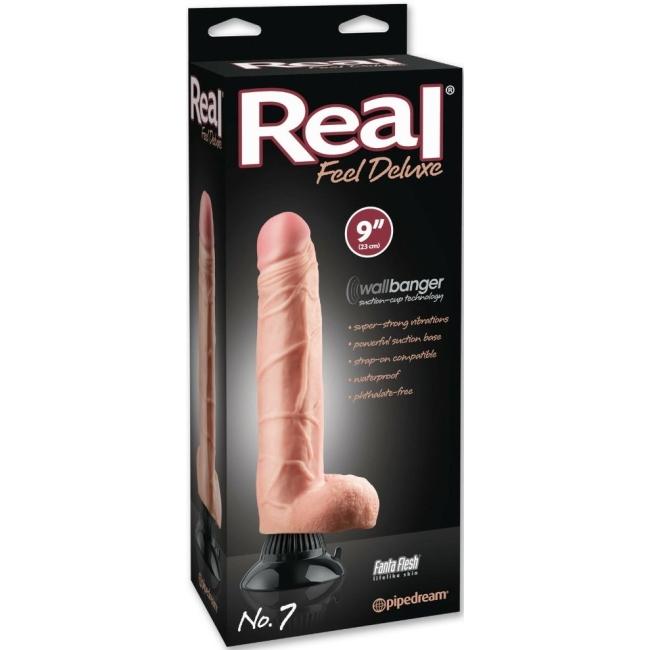 Pipedream Real Feel Deluxe No 7 Ultra Gerçekci 23 Cm Titreşimli Penis