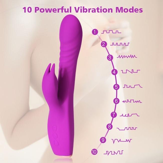 Riva 10 Fonksiyonlu Titreşimli G-Spot ve Klitoris Uyarıcı Rabbit Vibratör
