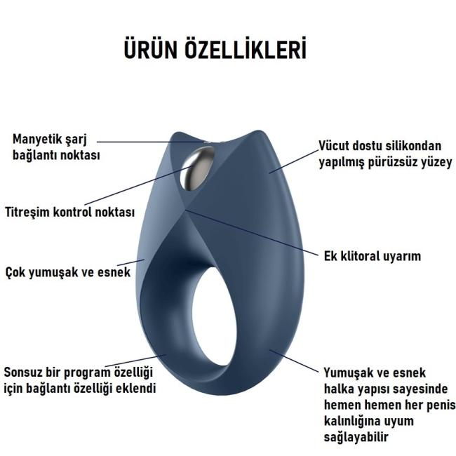 Satisfyer Royal Ring Telefon Kontrol Şarjlı Penis Halkası