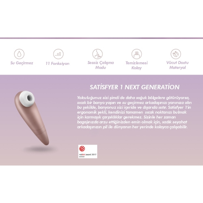 Satisfyer 1 Next Generation Klitoral Smilasyon Vibratörü