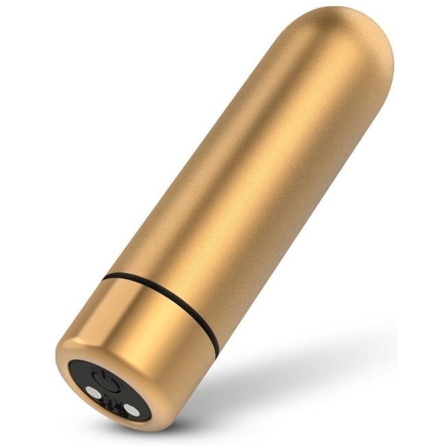 Seed-3 9 Fonksiyonlu Titreşimli Şarjlı Su Geçirmez Mini Gold Vibratör