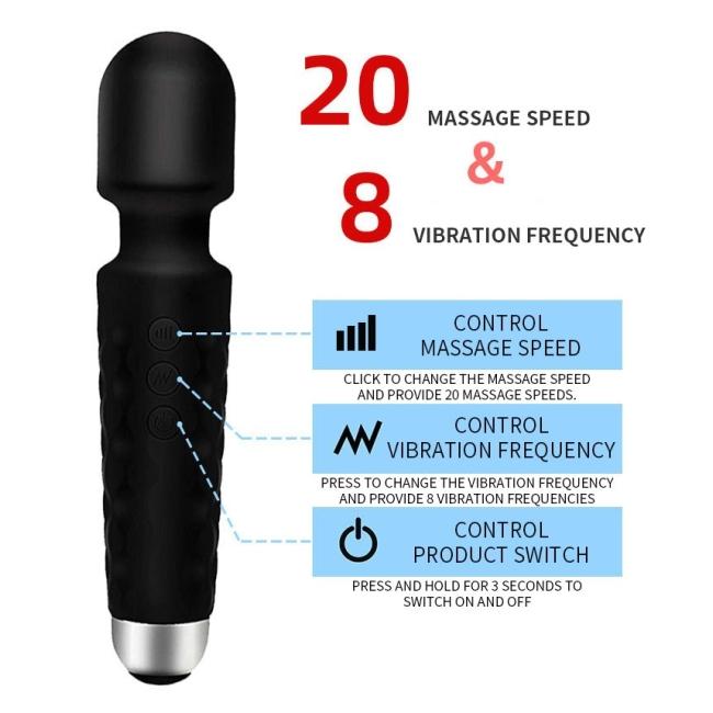 Silikon Güçlü Titreşime Sahip Masaj ve Orgazm Vibratörü