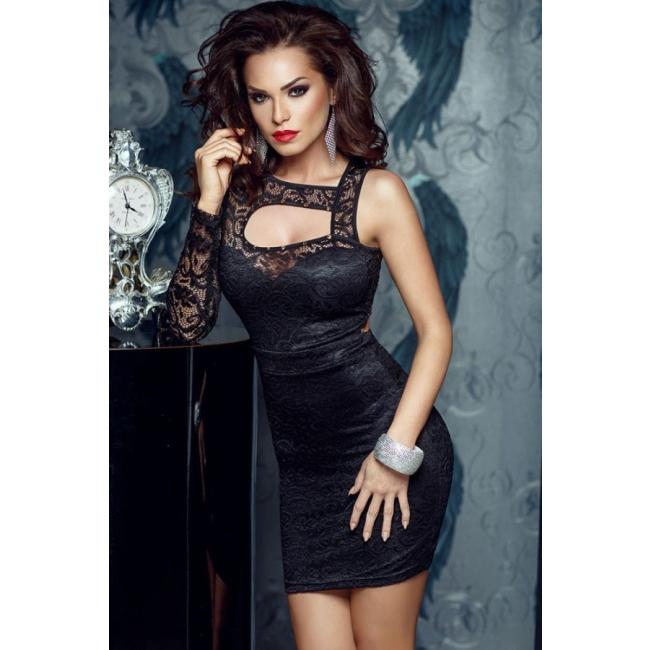 Siyah Dantel Gece Elbisesi Siyah Standart