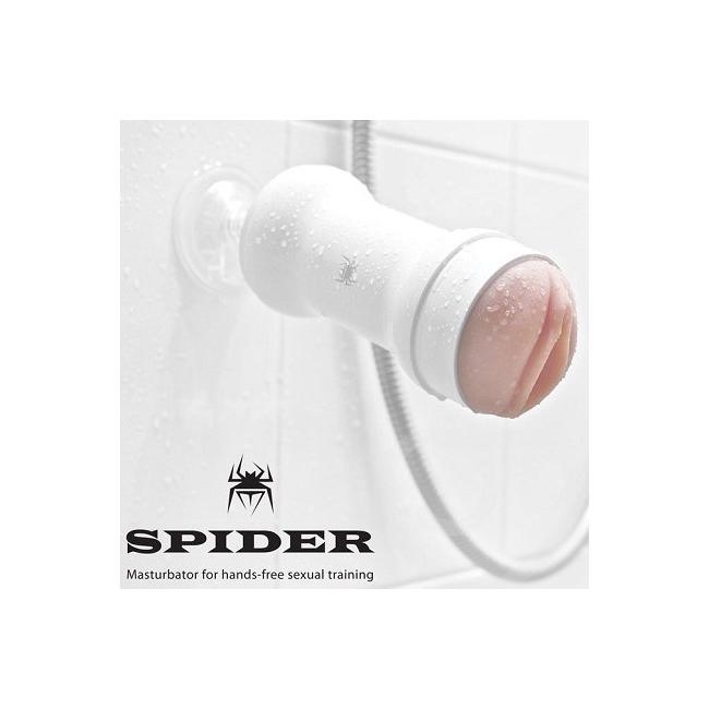 Spider  Realistik Yumuşak Dokuda Saklaması Kolay Vantuzlu Vajina