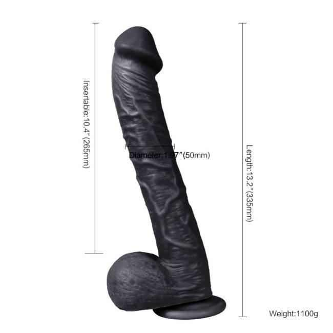 Supre 33 Cm Büyük Boy Kalın Damarlı Realistik Zenci Penis