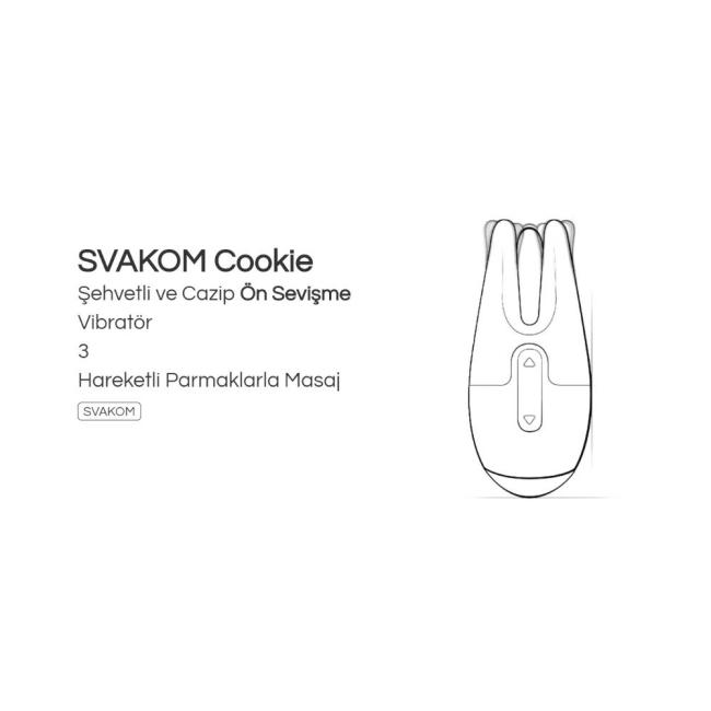 Svakom Cookie Usb Şarjlı Şehvetli Masaj Aleti ve Vibratör (Kutusuz Sıfır Ürün)