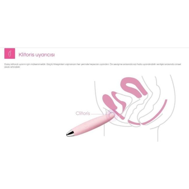 Svakom Daisy Şarjlı 3 Modlu Titreşimli Klitoris Uyarıcı Vibratör (Kutusuz Sıfır Ürün)