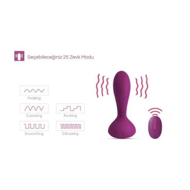 Svakom Julie Prostat ve Vajinal Kullanabilir Kumandalı Vibratör (Kutusuz Sıfır Ürün)