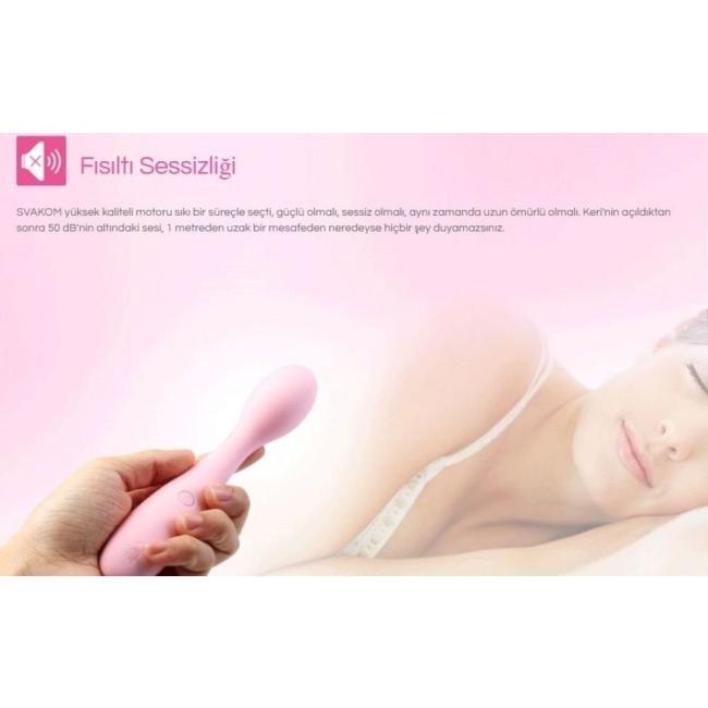 Svakom Keri G-Spot ve Klitoris Uyarıcı 25 Farklı Titreşimli Şarjlı Vibratör (Kutusuz Sıfır Ürün)