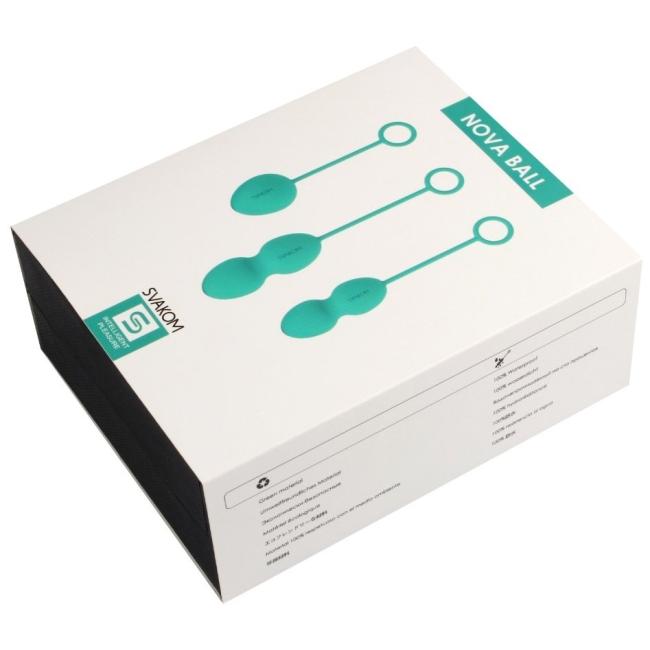 Svakom Nova 3 Farklı Boyutta Silikon Kegel Egzersiz Topları Yeşil