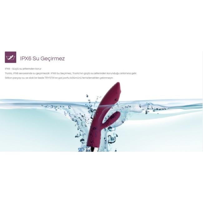 Svakom Trysta G-Spot ve Klitoris Uyarıcı Hareketli Boncuklu Titreşimli Vibratör (Kutusuz Sıfır Ürün)