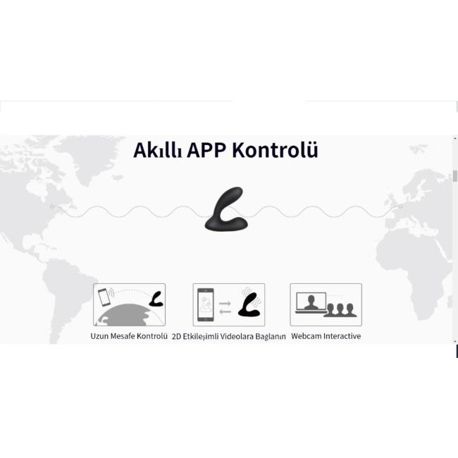 Svakom Vick Neo Telefon Kontrol İnteraktif Uygulamalı Prostat Uyarıcı Anal Vibratör&Plug