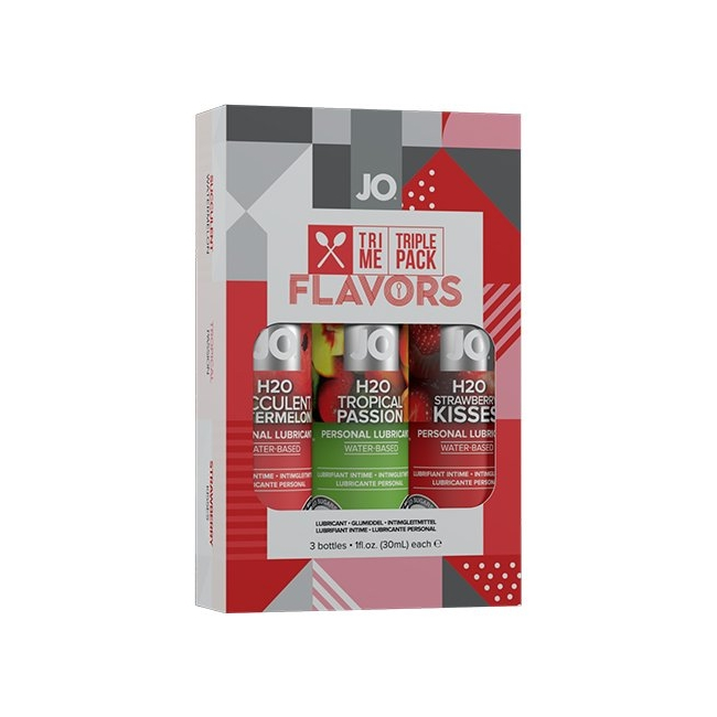 System Jo 3 Farklı Meyve Aromalı Kayganlaştrıcı Jel Seti