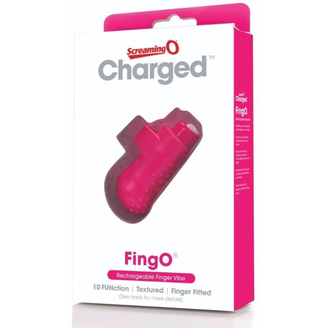 The Screaming O Charged FingO Finger Pembe Parmak Vibratörü