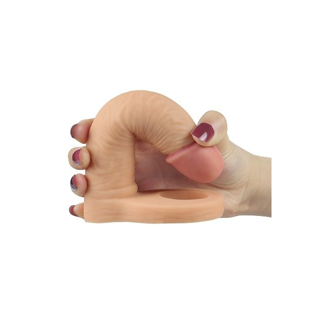 Love Toy The Ultra Soft Yumuşak Anal 15 cm Protez Penis Halkası Çift Yönlü İlişki