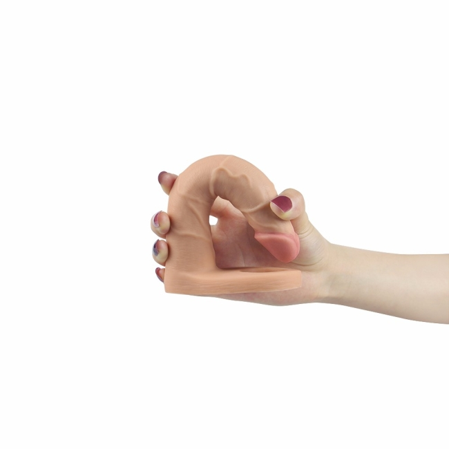 The Ultra Soft Double 18 Cm Titreşimli Ultra Yumuşak Anal Protez Penis Çift Yönlü İlişki