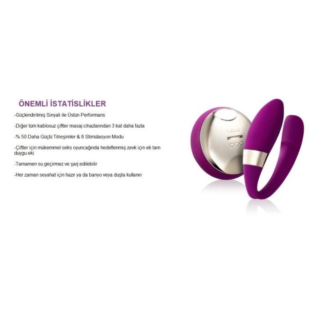 Lelo Tiani 2 Design Edition Cerise Giyilebilen Kumandalı Şarjlı Vibratör