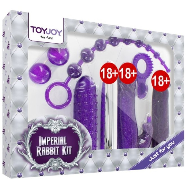 Toy Joy İmperial Rabbit Dark Mor 7 Parça Vibratör Seti
