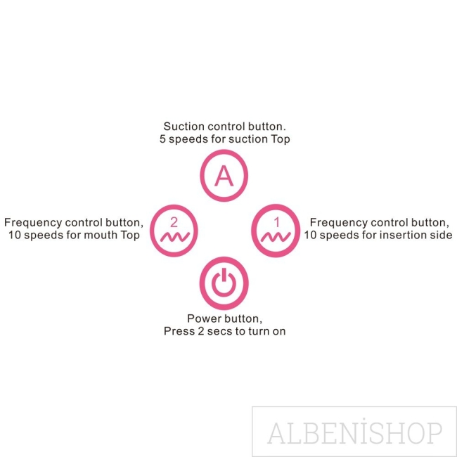 Toyz4Partner Premium Silikon Emiş Sağlayan ve Titreşimli Vibratör