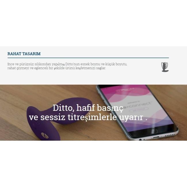 We-Vibe Ditto Akıllı Telefon Uyumlu Anal Plug