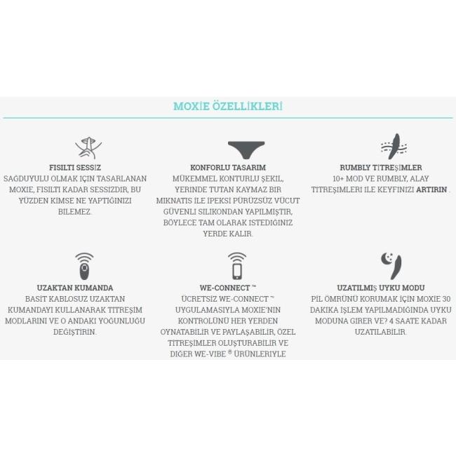 We-Vibe Moxie Satin Black Telefon Kontrollü Giyilebilen Çiftlere Özel Vibratör