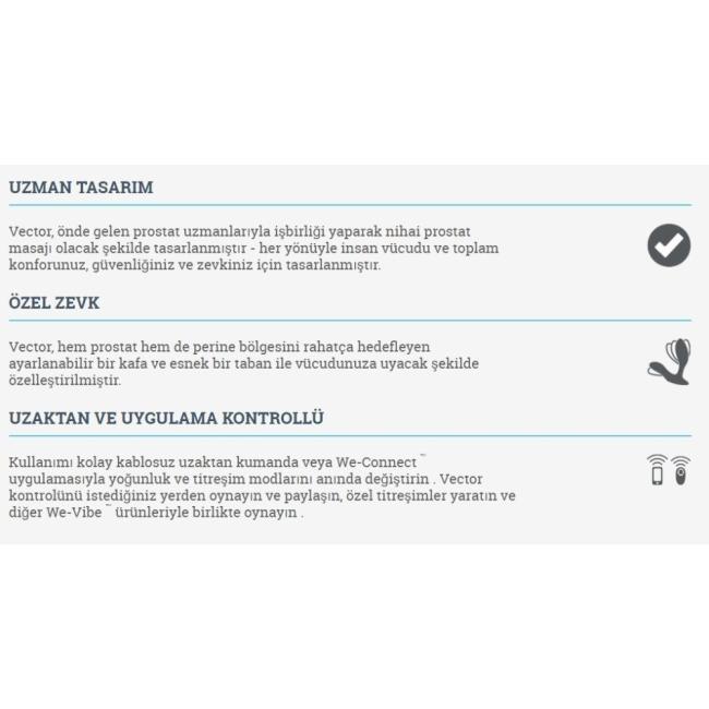 We-Vibe Vektör Akıllı Telefon Uyumlu Prostat Masaj Vibratörü