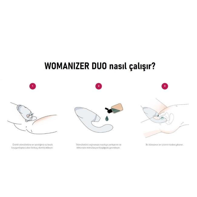 Womanizer Duo Bordeaux G-Spot ve Klitoris Uyarıcı Lüks Vibratör