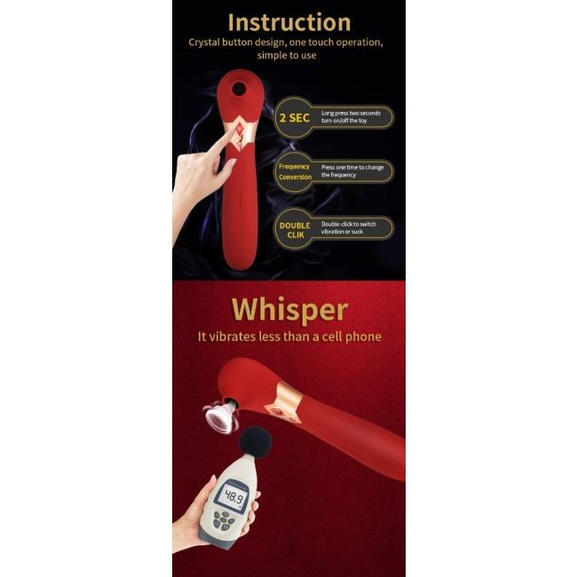 Wowyes S4 5 Titreşim ve 5 Emiş Modlu Şarjlı Su Geçirmez Masaj Vibratör