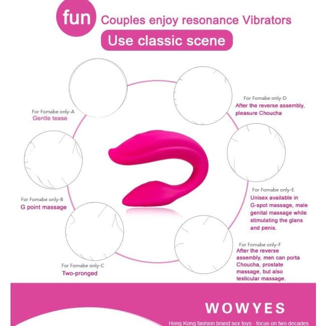 WowYes Share Çiftlere Özel Kablosuz Uzaktan Kumandalı Şarjlı Giyilebilen Vİbratör
