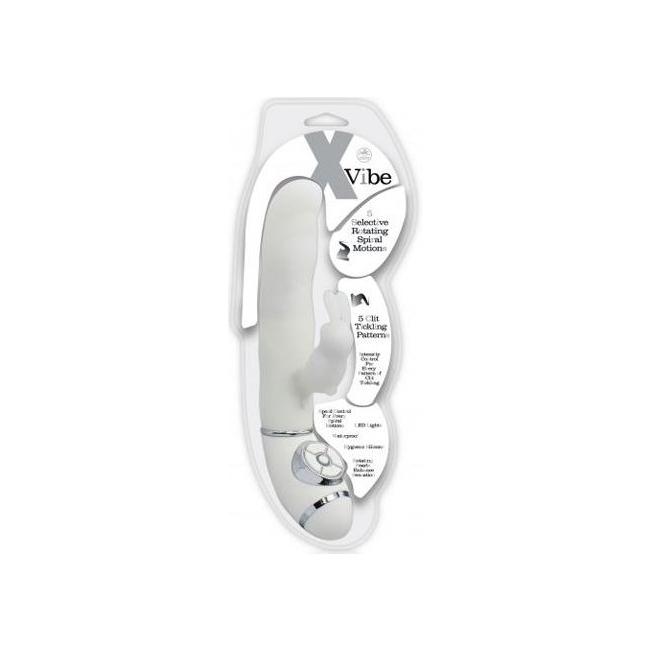 X Vibe Klitoral Uyarıcılı Çift Motorlu Teknolojik Beyaz Vibratör